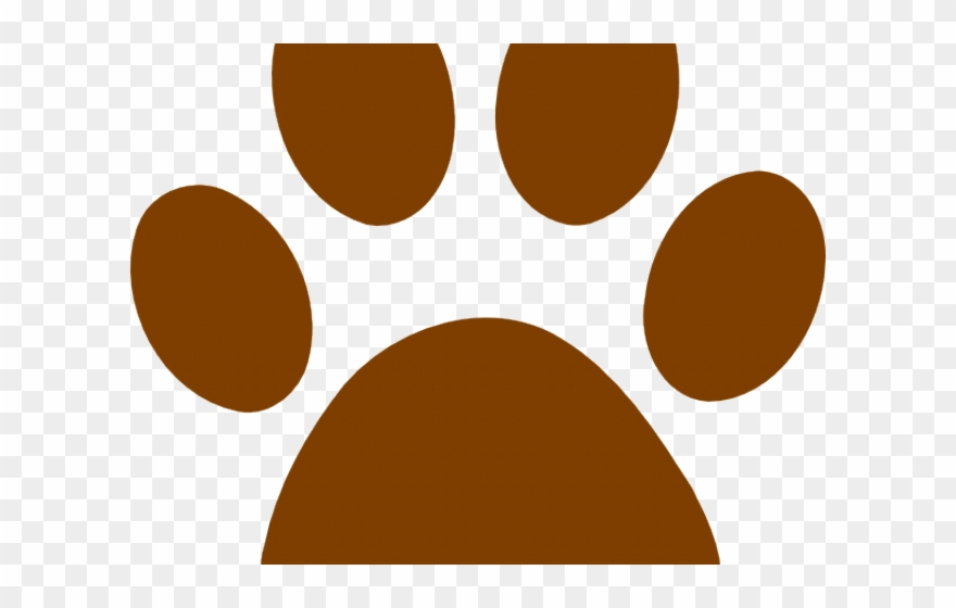 Grizzly Bear Clipart Paw Print.