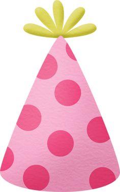Pink Birthday Hat Clipart.