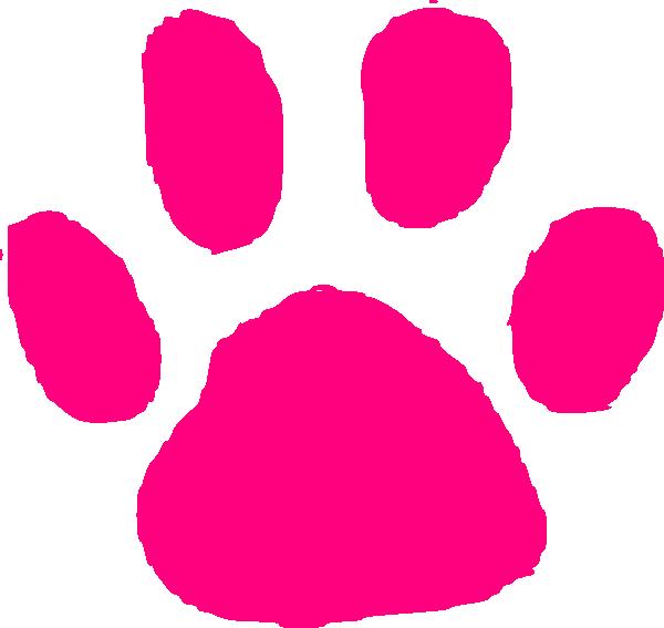 Pink Paw Print Clip Art at Clker.com.