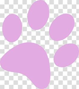 Pink paw print , Purple Paw Print transparent background PNG.