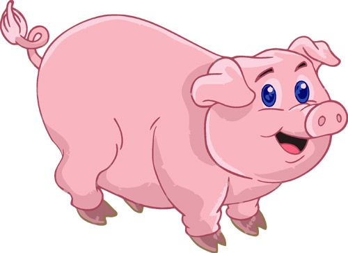 Pink pig clipart 1 » Clipart Station.