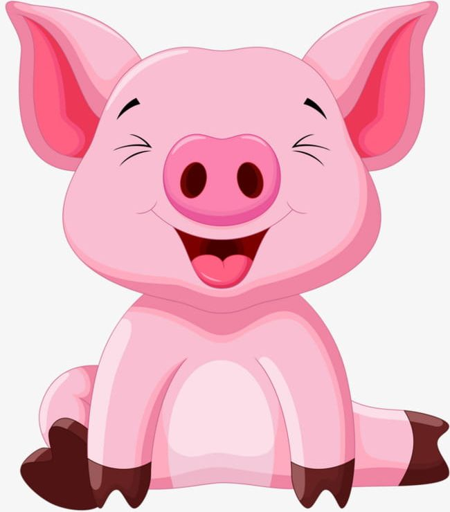 Pink Pig PNG, Clipart, Animal, Cartoon, Pig, Pig Clipart.