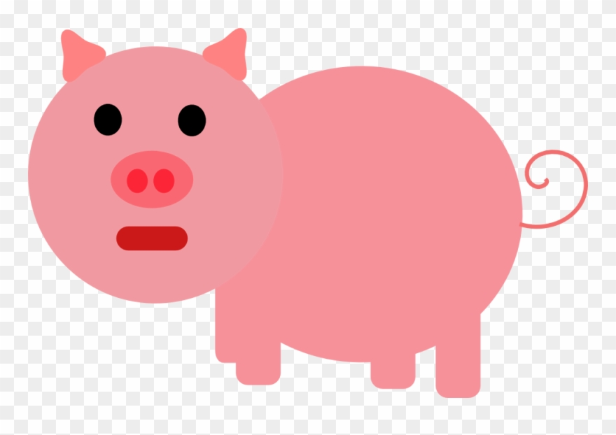 Pink Pig Clipart (#65260).