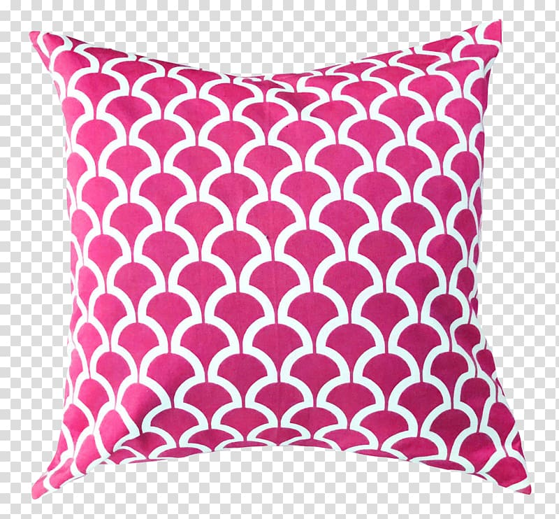 Pink and white throw pillow illustration, Throw pillow.