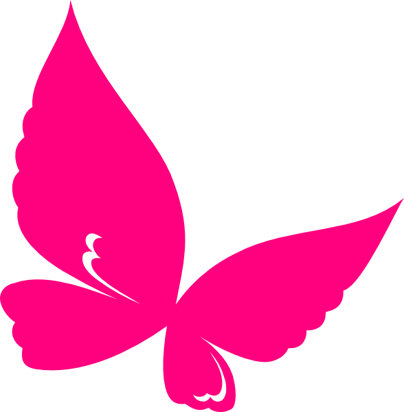 Blank Pink Pink Butterfly Clipart.