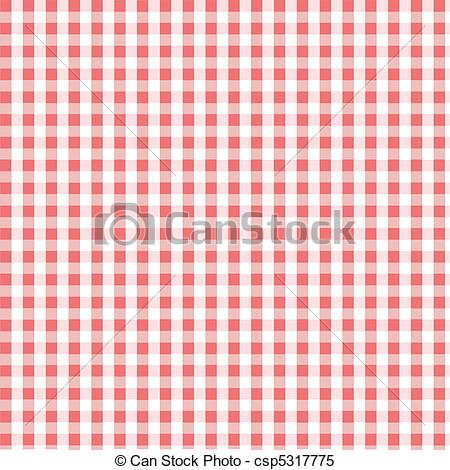 Clipart Vector of Seamless pink plaid pattern, fabric, textile.