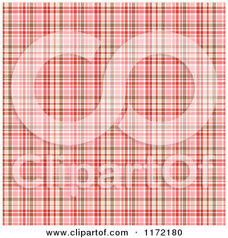 Clipart of a Background of Red Pink and Brown Plaid.