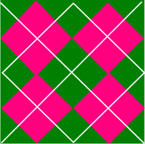 Pink & Green Plaid Clip Art at Clker.com.