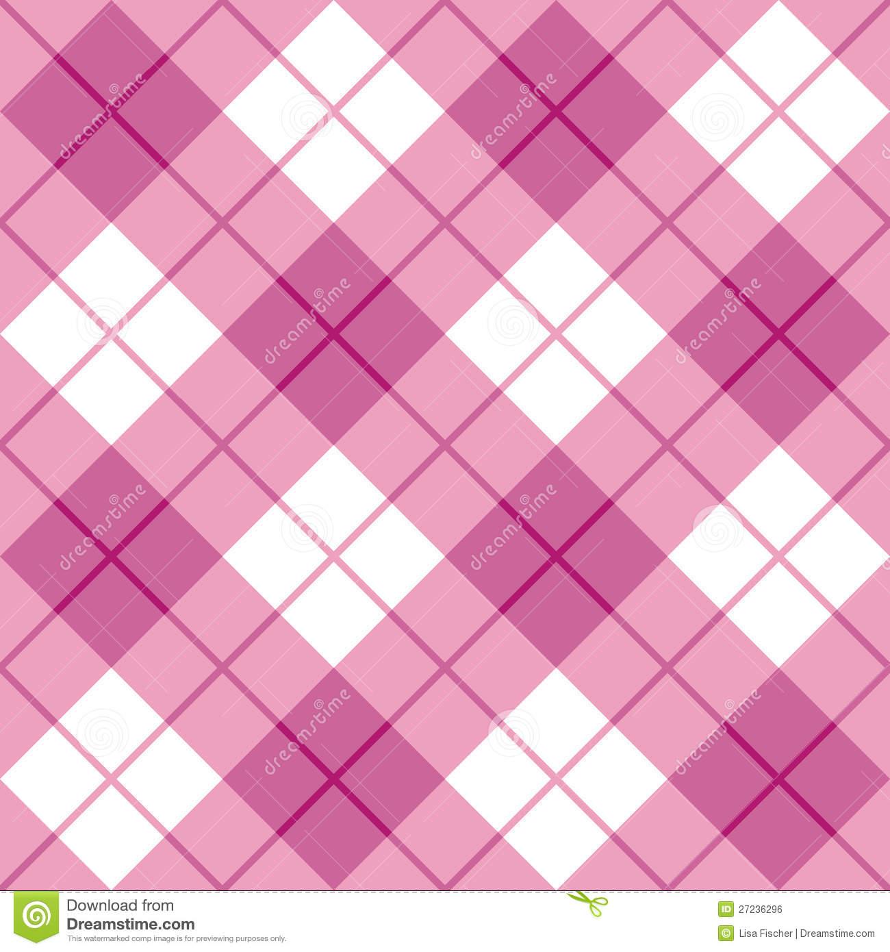 Bias Plaid In Pink Royalty Free Stock Image.