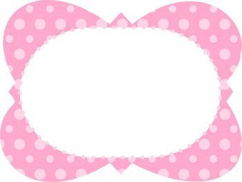 FREE Polka Dot Frames.