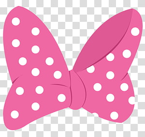 Bows , pink and white polka.