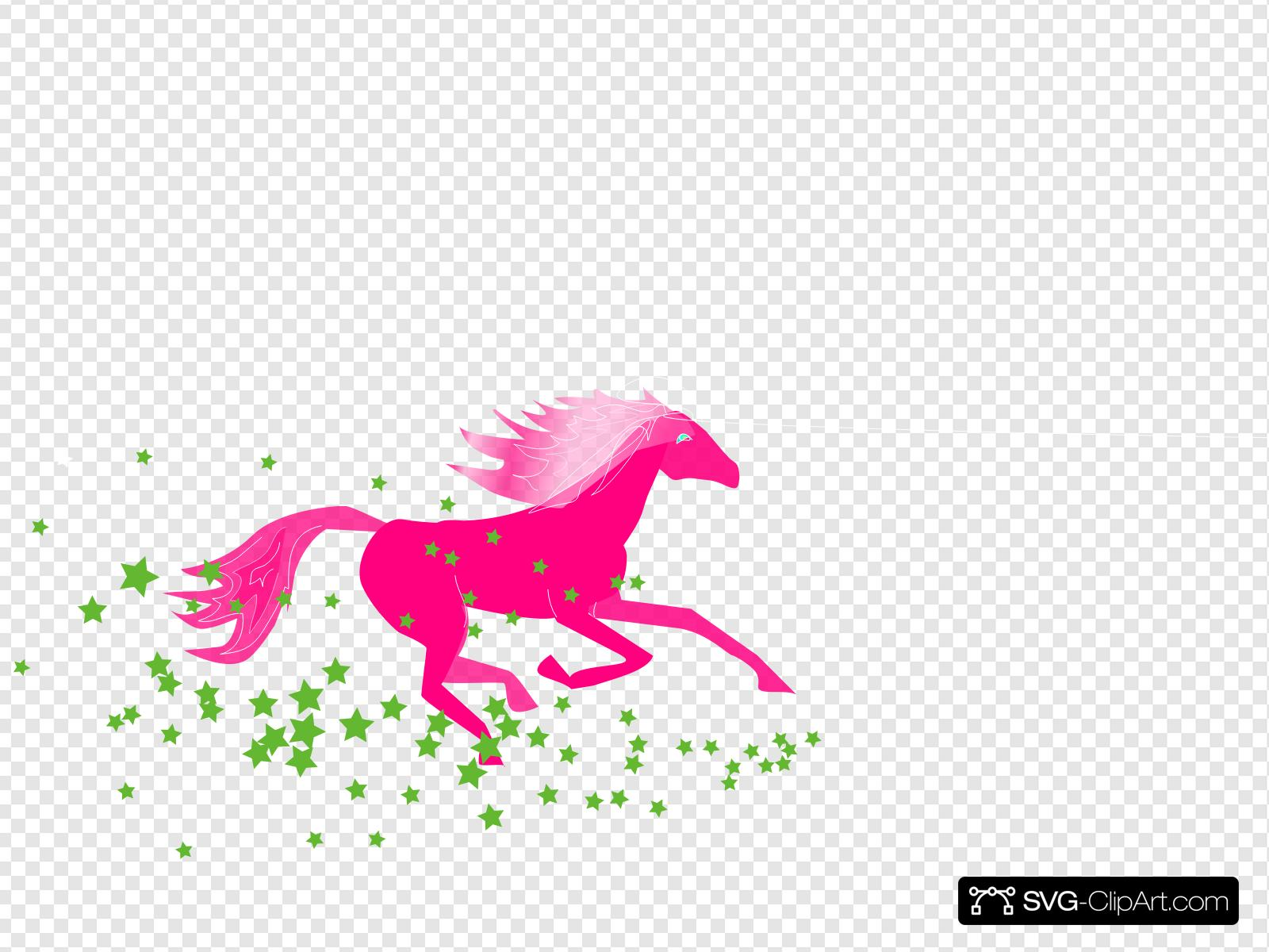 Pink Pony Clip art, Icon and SVG.