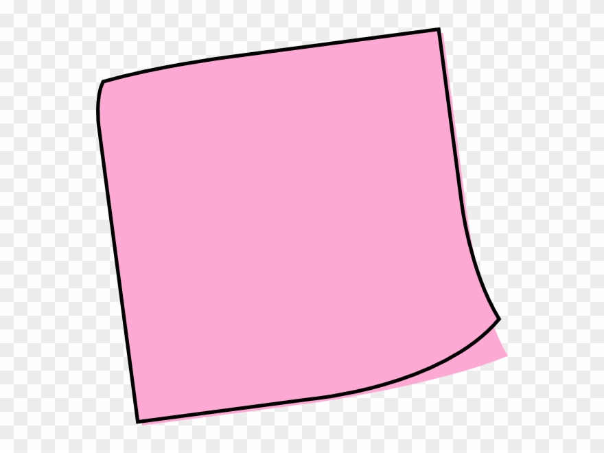 Pink Post It Note Cartoon Clipart (#66141).