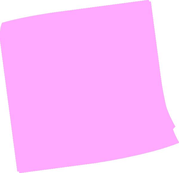 Pink Post It Clip Art at Clker.com.