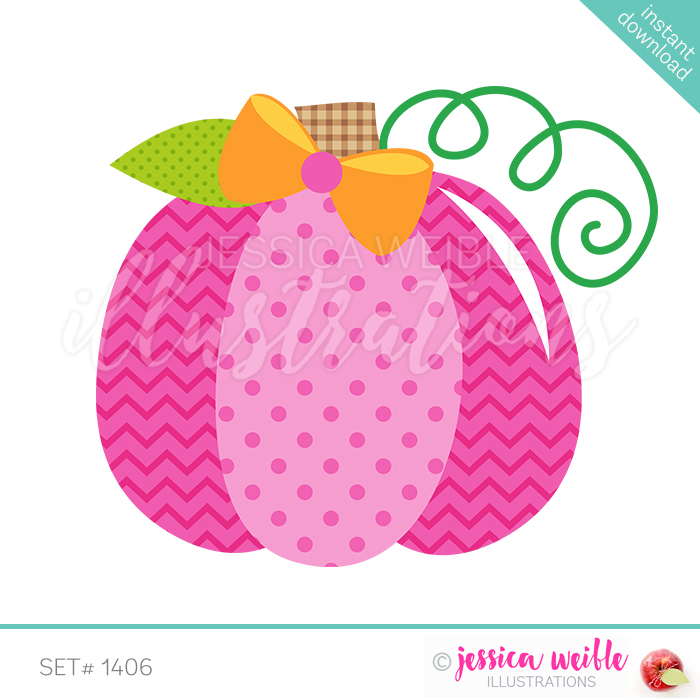 Pink Pumpkin with Bow.
