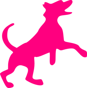 Pink Dog Cliparts.