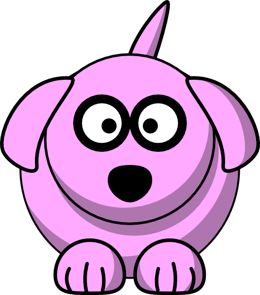 Pink Cartoon Dog SVG Clip arts download.