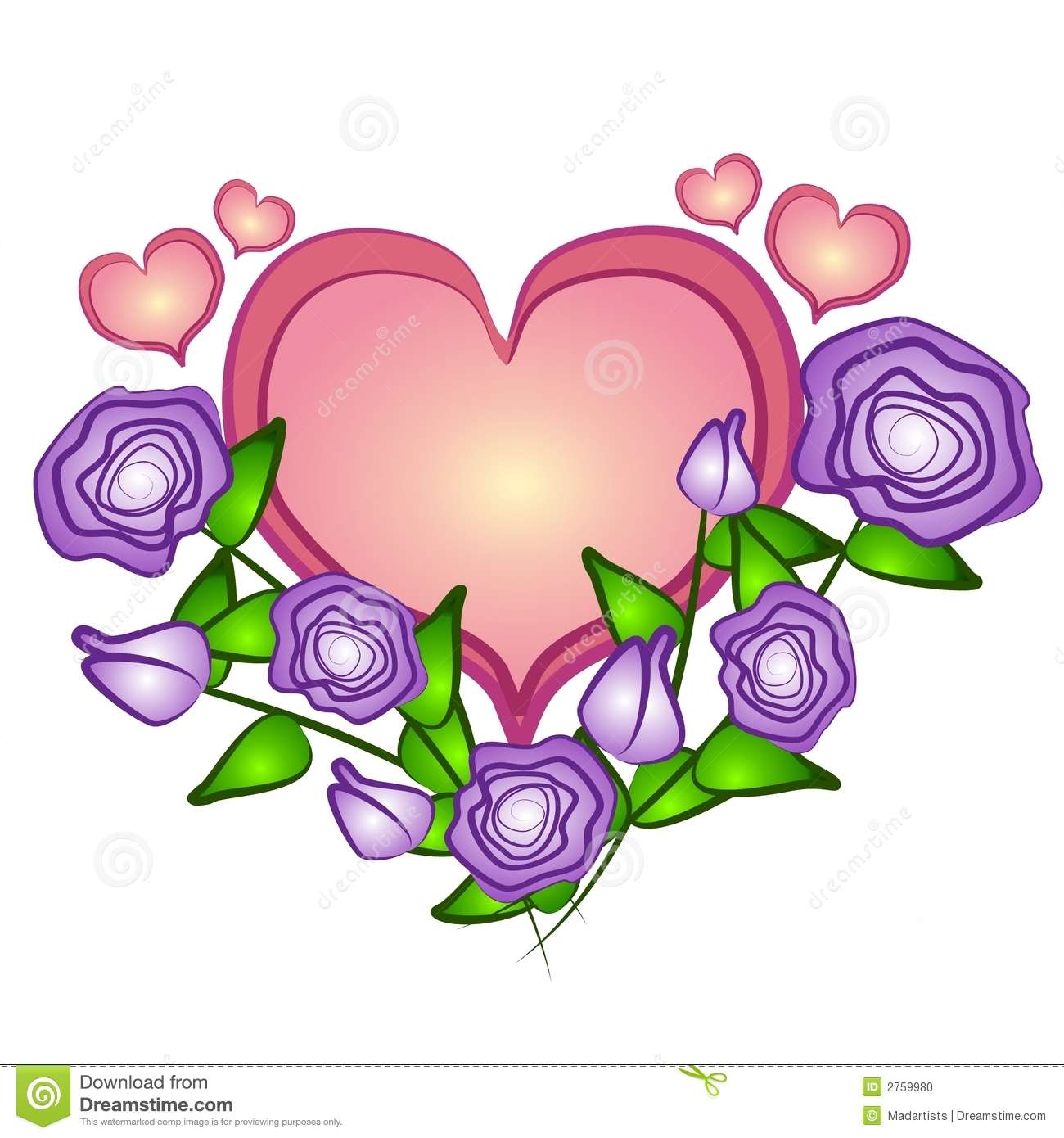 Purple Rose Clip Art.