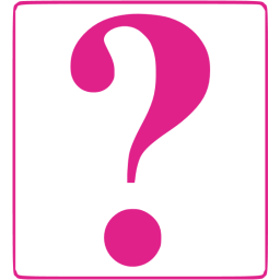 Barbie pink question mark 8 icon.