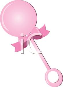 A Pink Baby Rattle.