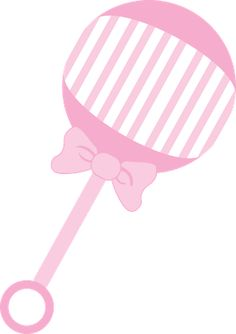Pink Baby Rattle Clipart.