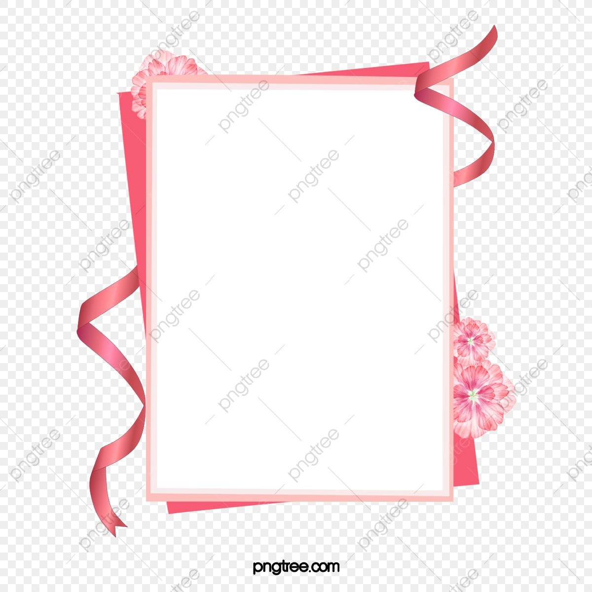 Pink Ribbon Border, Ribbon Clipart, Pink, Ribbon PNG.