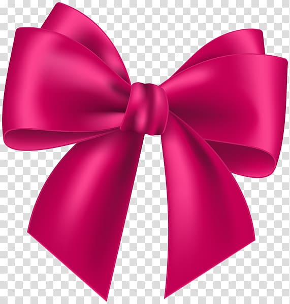 Pink Ribbon , ribbon bow transparent background PNG clipart.
