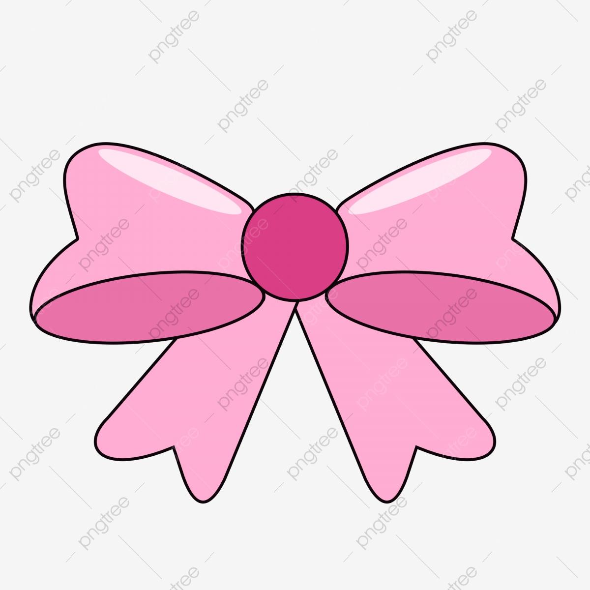 Pink Ribbon Bow, Ribbon Clipart, Bow Clipart, Pink PNG.