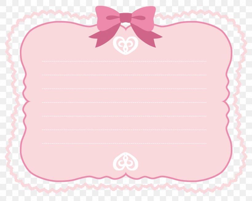 Pink Ribbon Border, PNG, 1000x800px, Ribbon, Heart, Paper.