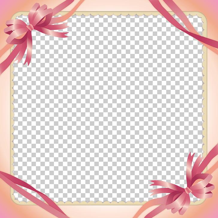 Pink ribbon , Pink Ribbon Border PNG clipart.