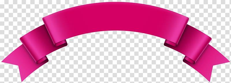 Pink ribbon border, , Banner Pink transparent background PNG.