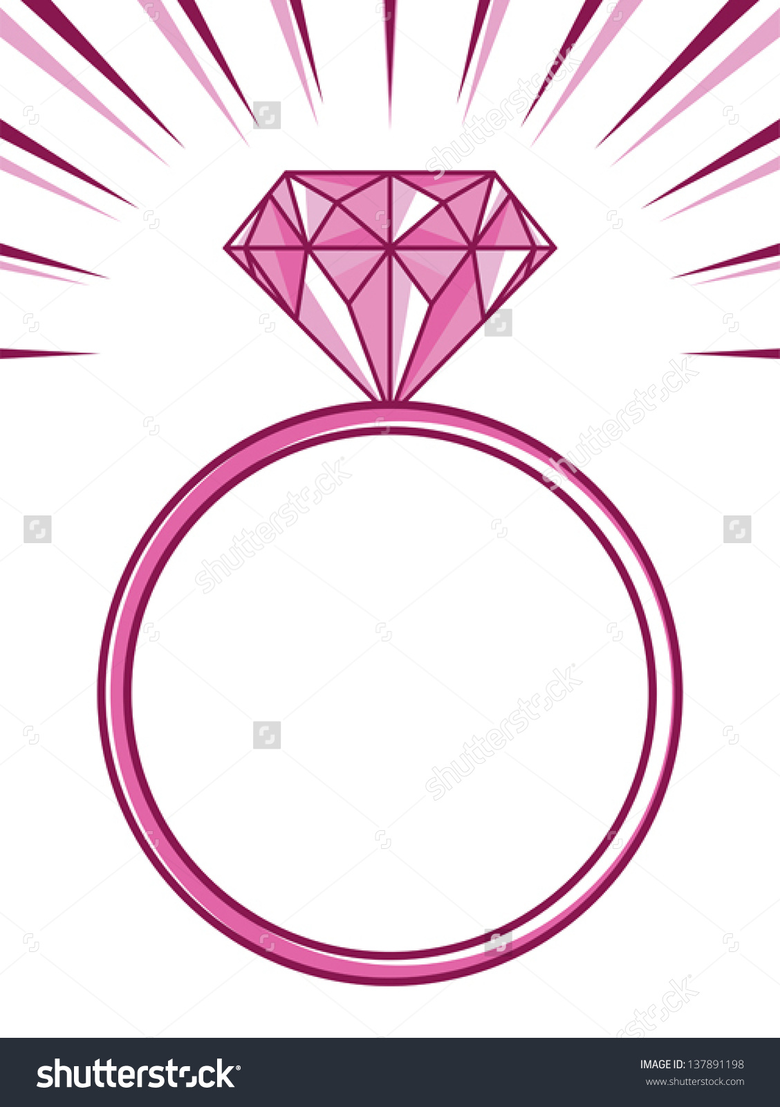 Pink Wedding Ring Clipart.