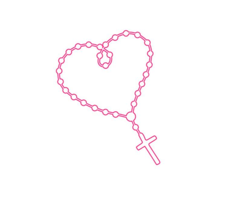 Rosary Icon at Vectorified.com.