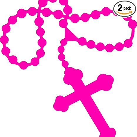 ANGDEST Religion Rosary Beads Catholic Sticker (Pink) (Set of 2) Premium  Waterproof Vinyl Decal Stickers for Laptop Phone Accessory Helmet Car  Window.