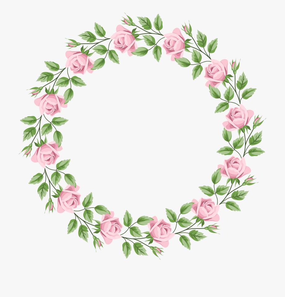 Pink Rose Border Frame Transparent Png Clip Art Floral.