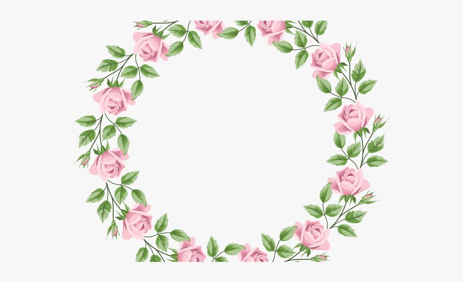 Pink Rose Clipart Frame.