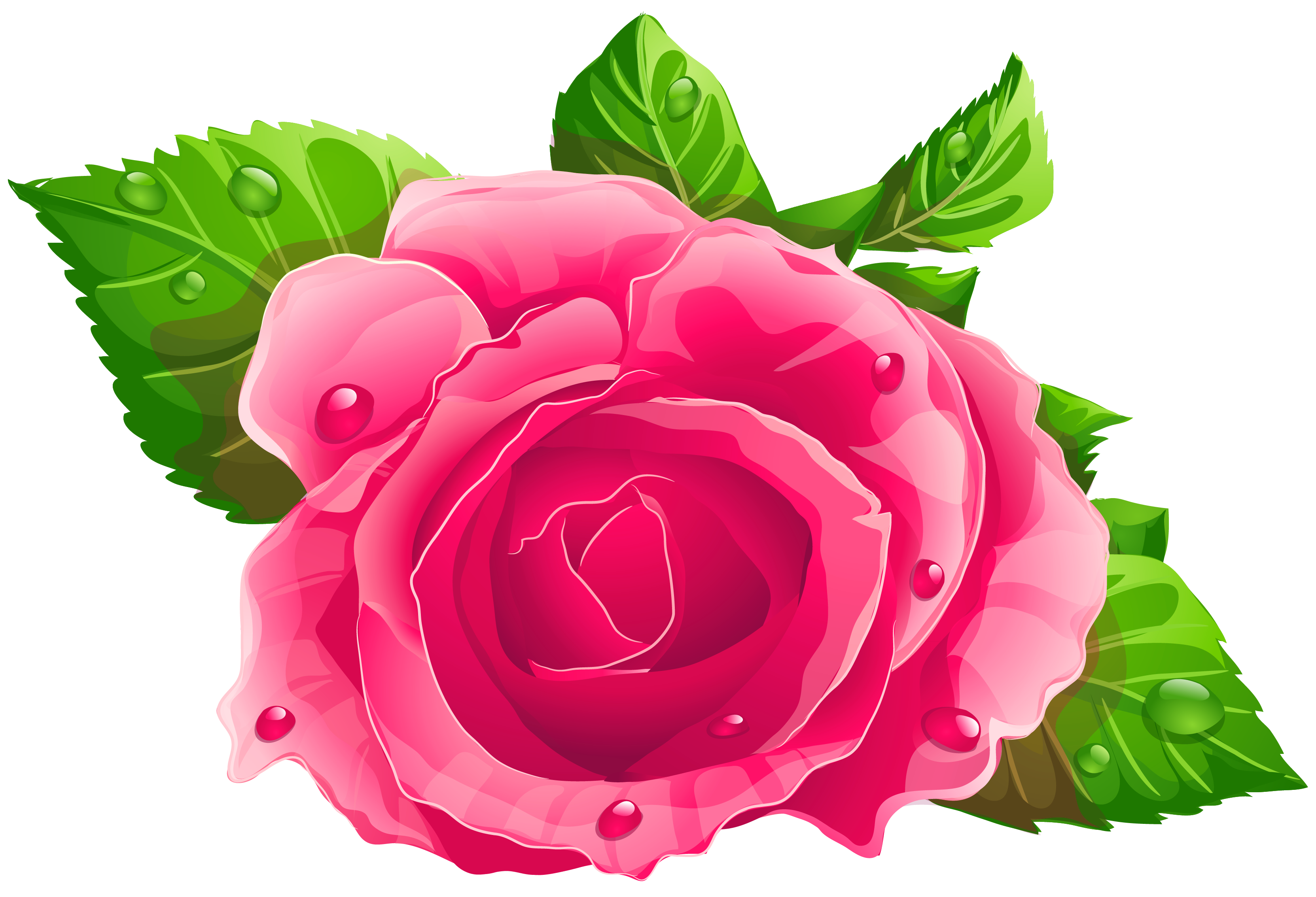 Pink Rose PNG Clipart.