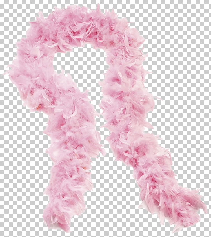 Rose Boa Scarf, pink feather scarf illustration PNG clipart.