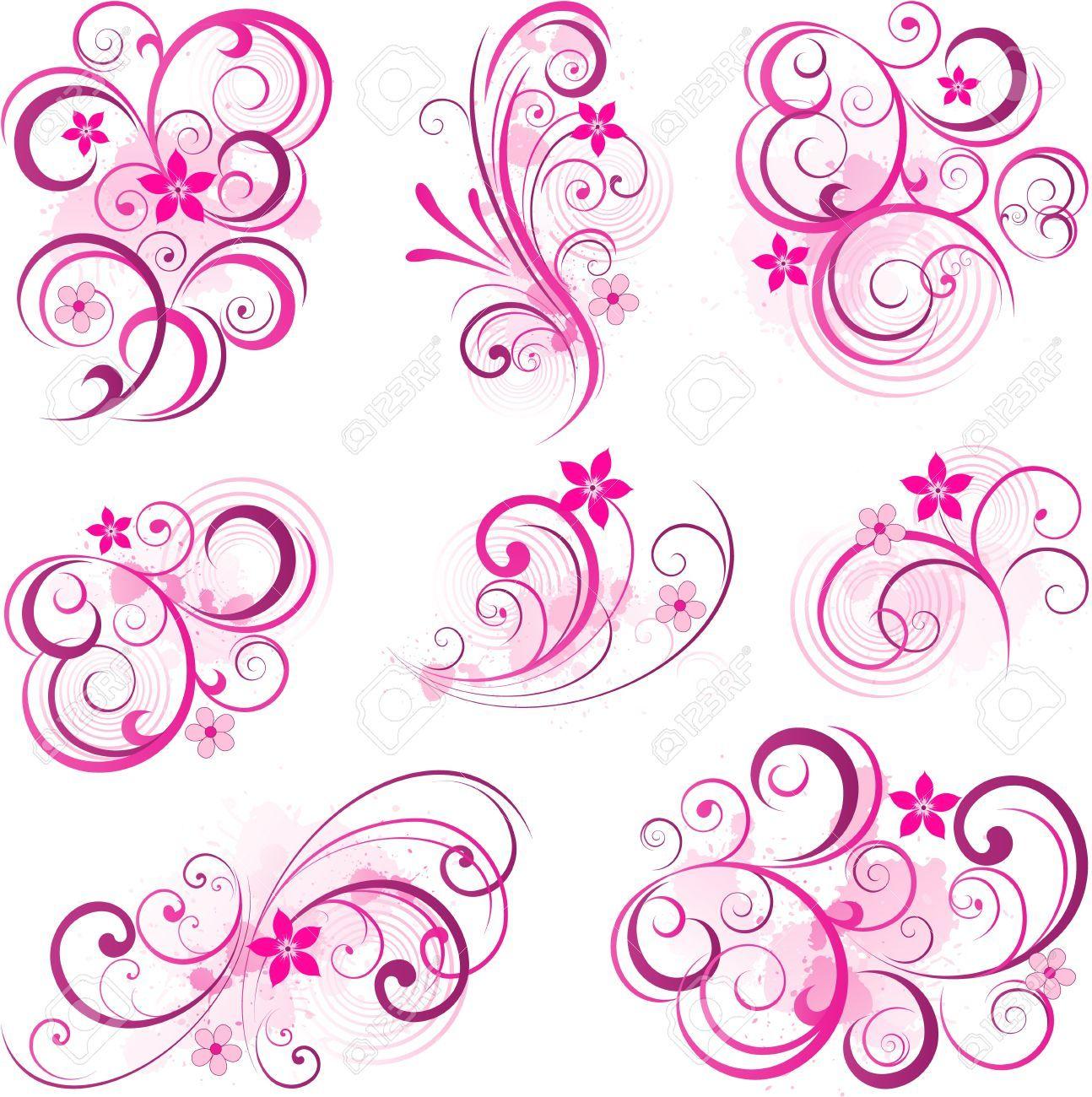 Pink scroll clipart » Clipart Portal.