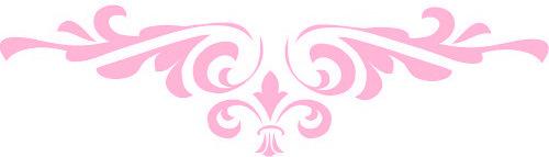Scrolls clipart pink.