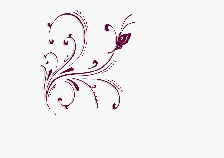 Purple Scroll Clipart.
