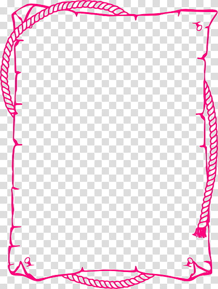 Pink empty scroll with rope transparent background PNG.