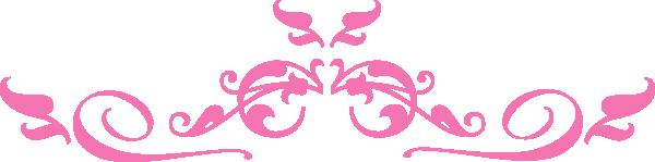 Pink Scroll SVG Clip arts download.
