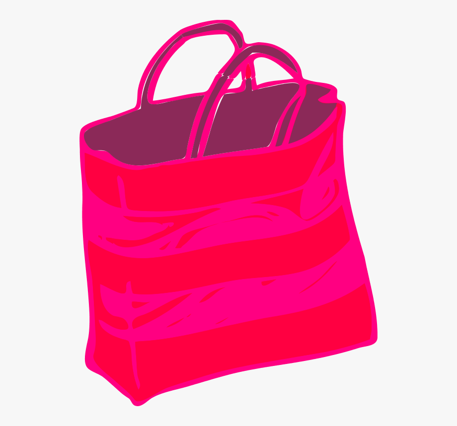 Shopping Bags Pink Shopping Bag Clipart.