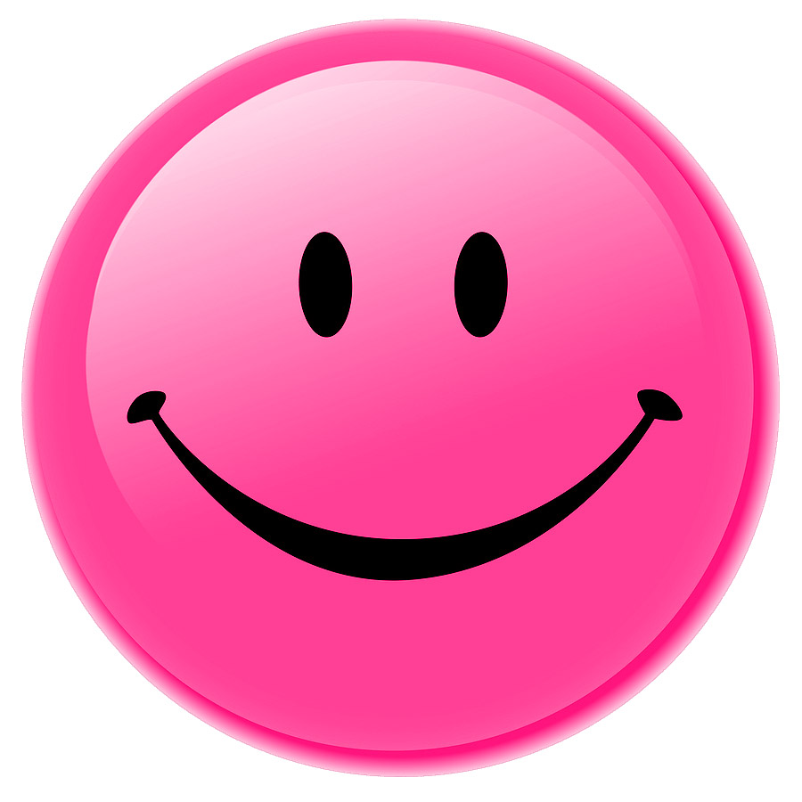 Pink Smiley Face Smiley.