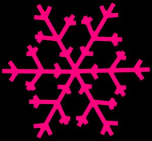 Pink Snowflake Clip Art at Clker.com.