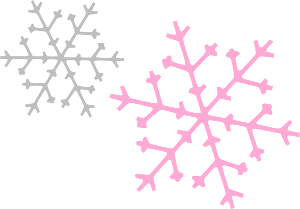 Pink Snowflake Clipart.