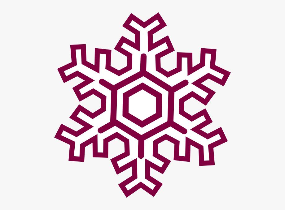 Burgundy Snowflake Clipart Clip Art.