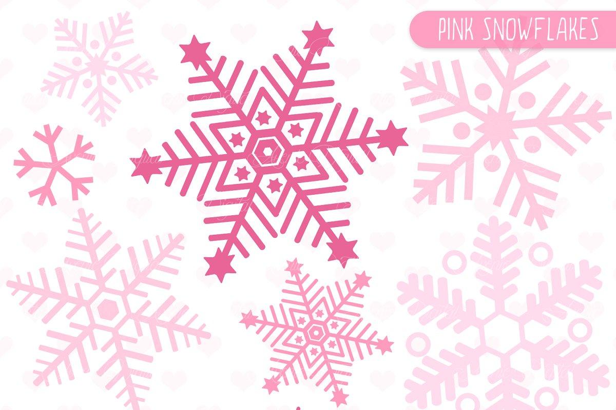Pink Snowflakes Clip art and Vectors.