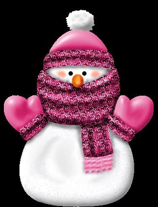 PINK SNOWMAN ~ by ~Craftykid on deviantART.